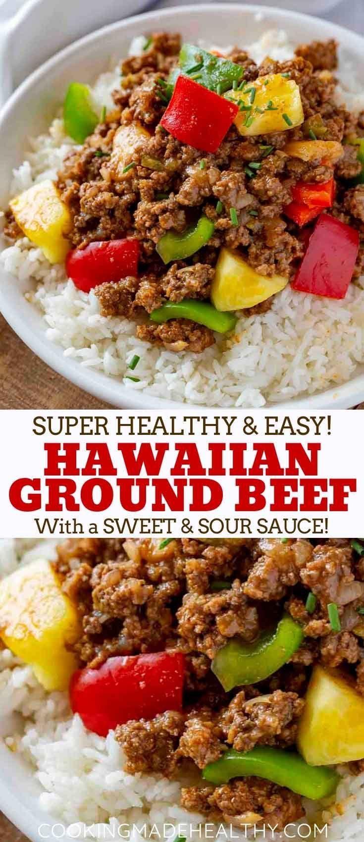 Ground Hawaiian Beef Cooking Made Healthy Recipe Beef Recipes For Dinner Beef Recipes Easy Beef Dinner