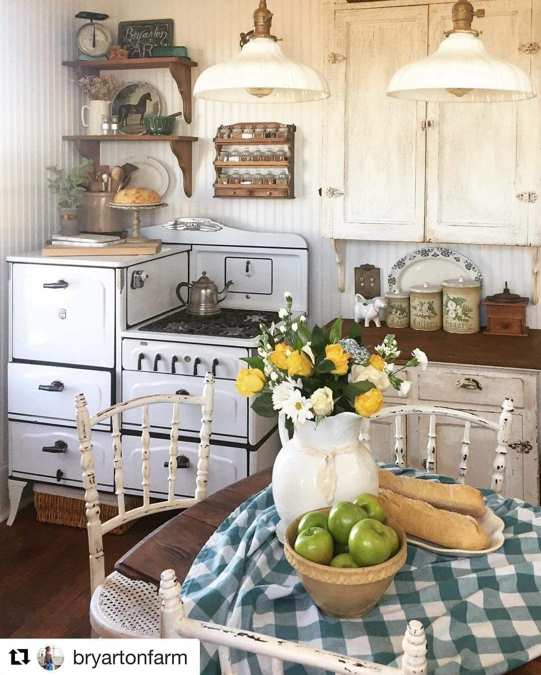 Farmhouse Kitchen Farmhouse Homedecor Rustic Kitchen Kitchen