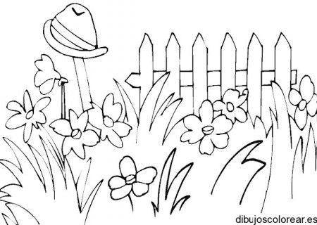 Dibujo De Jardin Para Colorear Dibujo De Jardin Paisajes Dibujos Paginas Para Colorear