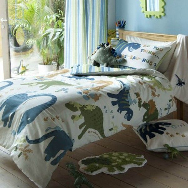 Dinosaur Cot Bed Duvet Cover Curtains By Catherine Lansfield Themed Bedroom For Toddlers