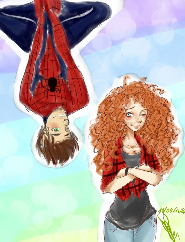 Merricup // Hiccup and Merrida love this. Oh and they really do look like Mary Jane and Peter Parker. NEATO!