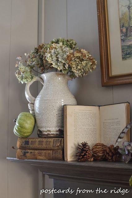 The Organized Dream Neutral Fall Farmhouse Decor Ideas Mantel Decorations Fireplace