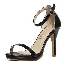 Francês Paris semana de moda de nova mulheres de salto alto sandálias de verão sapatos de peep toe salto fino Sexy bomba partido size35-40(China (Mainland))
