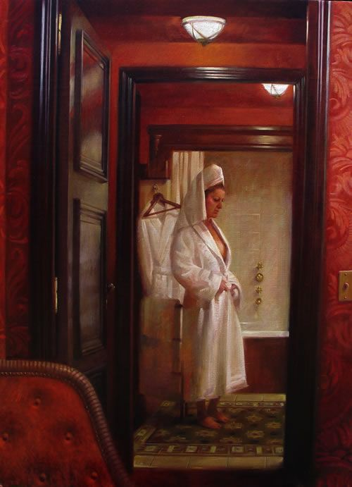 Sergio Sanchez Hotel Costes Paris Oil On Linen 40 X 30 Painting Art Art Gallery