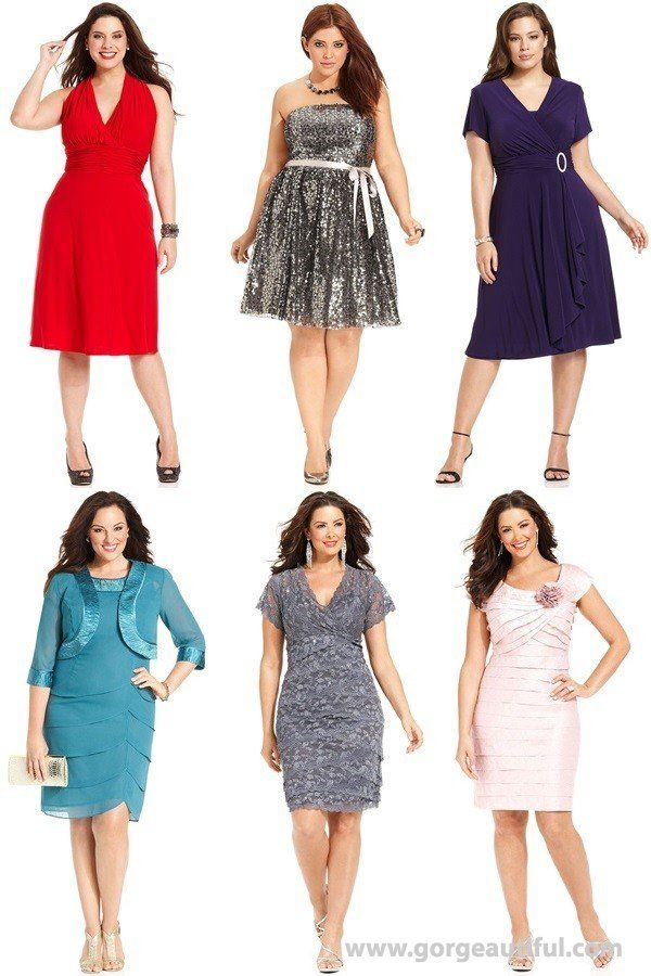 Plus Size Formal Wedding Guest Attire With Open Neck Line