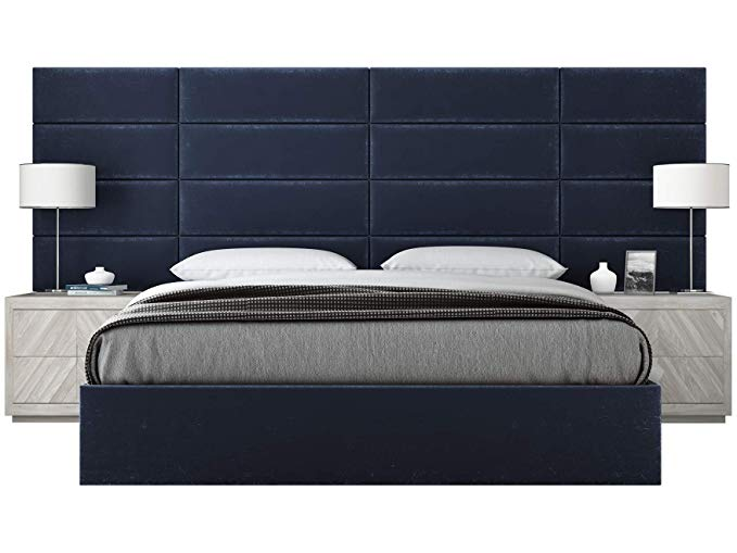 Amazon Com Vant Upholstered Wall Panels King Cal King Size Wall Mounted Headboards Plu Upholstered Walls Upholstered Wall Panels Upholstered Platform Bed