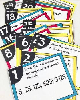 Patterns Task Cards 4th Grade Math Centers 4 Oa 5 4th Grade