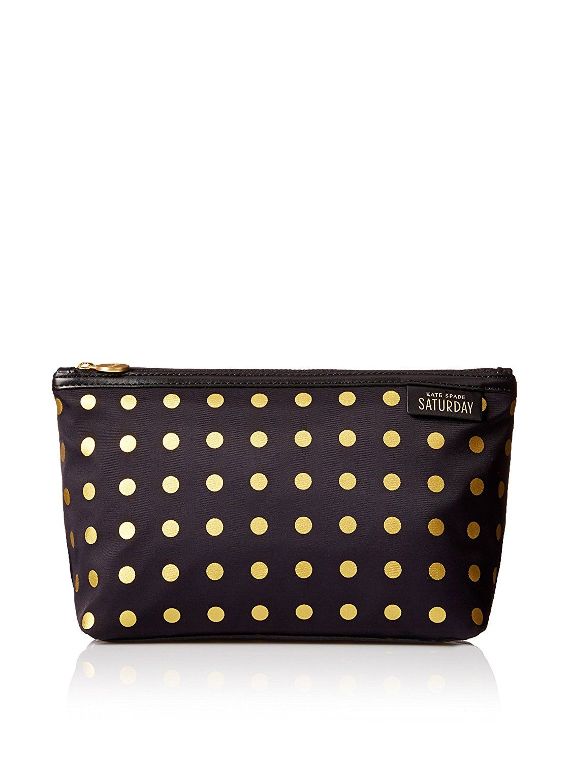 e6ac78c354 Kate Spade Saturday Black with Gold Dots Cosmetic and Toiletry Bag ***  Discover this special product, click the image : Travel cosmetic bag