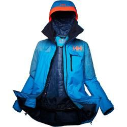 Photo of Helly Hansen Woherr Whitewall Lifaloft Winter Jacket Midlayer Blue Xs