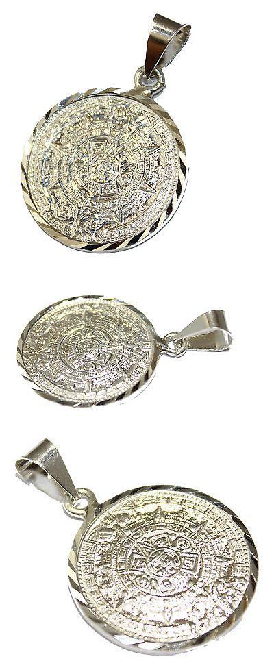 Necklaces and pendants 98491 aztec calendar pendant 950 fine necklaces and pendants 98491 aztec calendar pendant 950 fine silver mexico taxco silver aloadofball Image collections