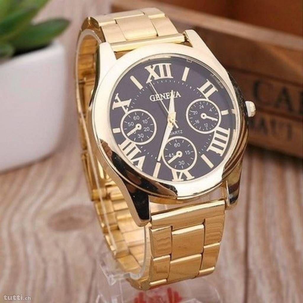 Luxus Edel Armbanduhr Frauen Geneva Gold Braun - Die Uhr ist brandneu und originalverpackt!  Kostenloser Versand!  Luxus Edel Armbanduhr Frauen Geneva...