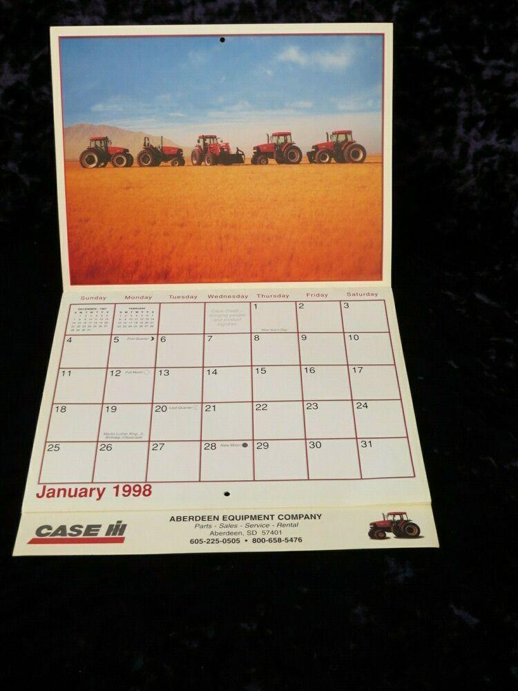 International Harvester Case Ih Tractor Date Calendar Aberdeen Sd
