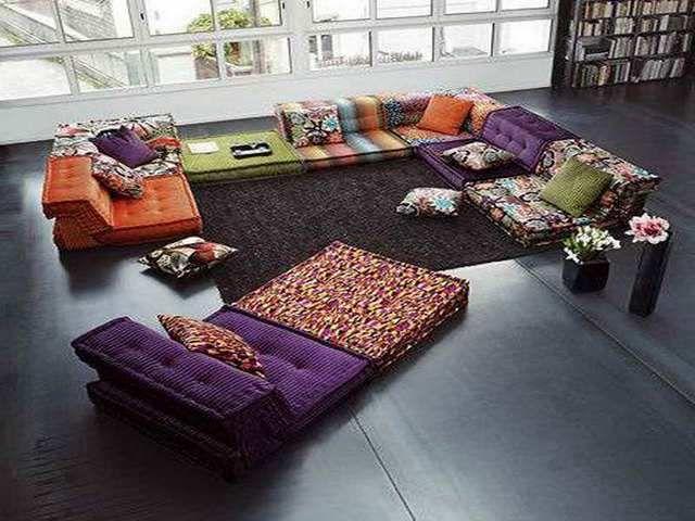 Plain Design Living Room Floor Pillows Living Room Floor ...