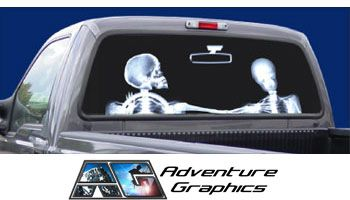 Vehicle Graphics XRay Custom Truck Or SUV Rear Window Graphic - Chevy truck stickers for back window