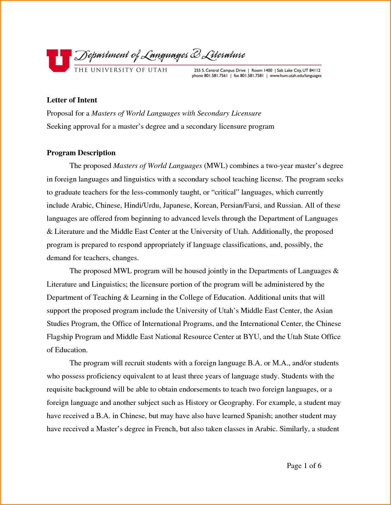 sample letters of intent grad school awesome letter resume template for ojt free download basic format freshers profile student