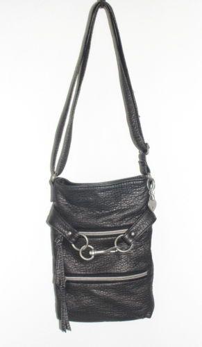 Handbag American Rag Crossbody Gray Gunmetal Faux Leather Small Purse Vegan Nwot Fashion