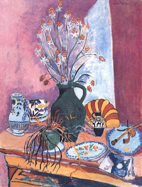 STILL LIFE WITH FLOWERS 114 x 87 cm. Museum Flokway, Essen 1907 Henri Matisse