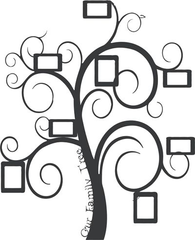 Family Frame Tree Wall Decal | Our Designs Pinned By You | Wall ...