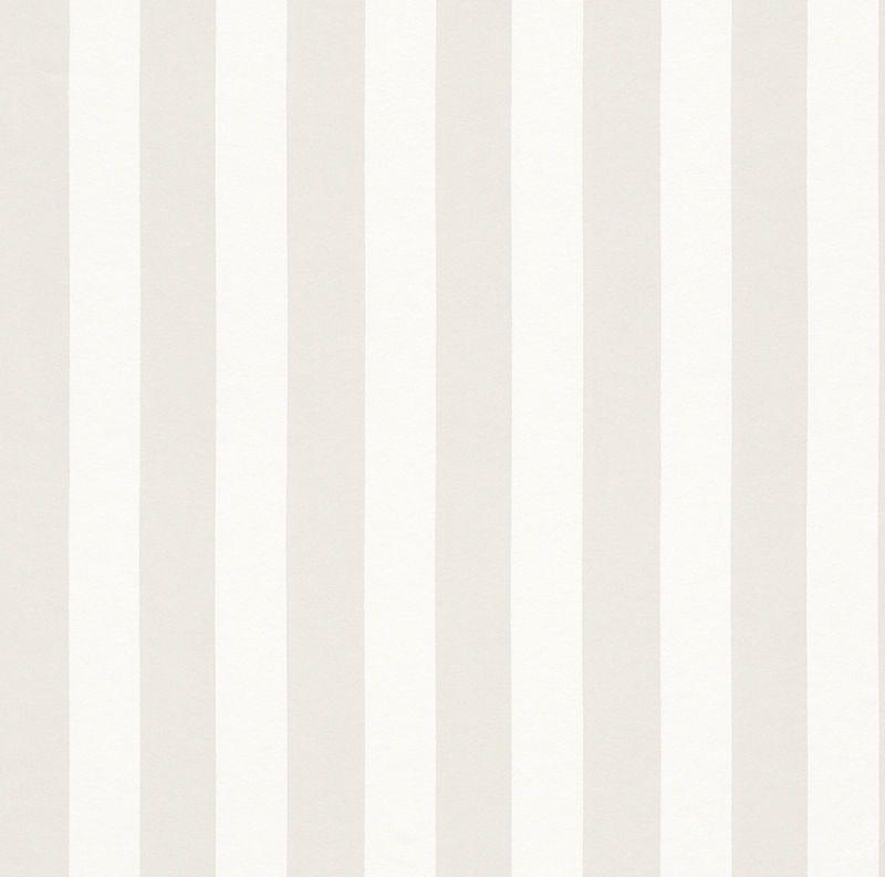 Rasch Sophie Charlotte - 440218 Tapete Vlies Streifen gestreift weiß beige
