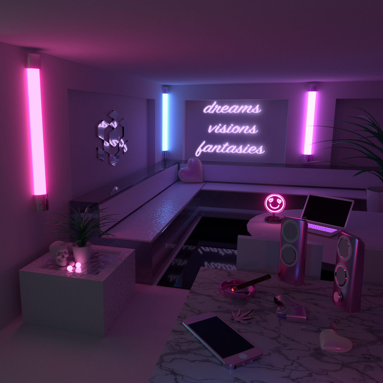 All I See Is You Aesthetic Rooms Neon Bedroom Neon Room