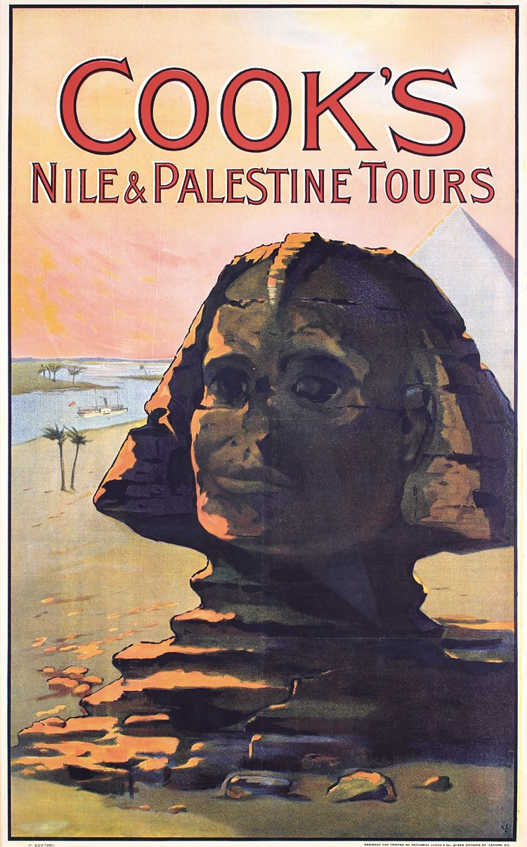 Visit Egypt Sphinx 1930s Vintage Style Travel Poster 20x30