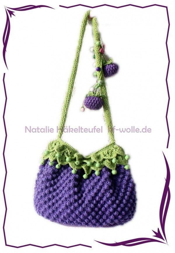 Kinder Taschen Häkeln In Fruchtform Diy πλεκτά Pinterest