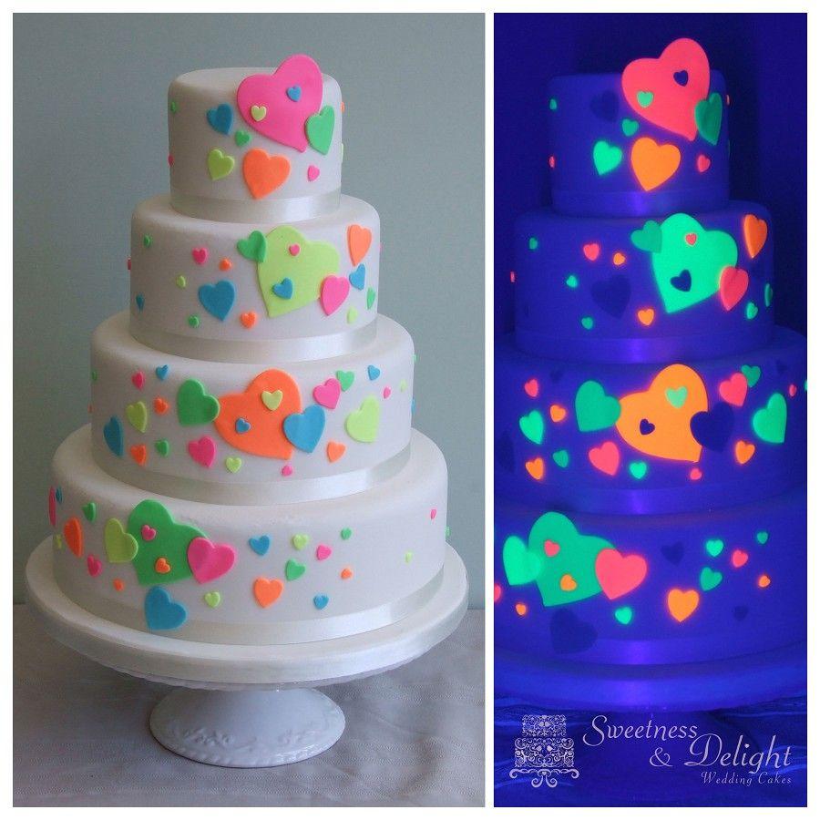 Glow In The Dark Themed Birthday Cake