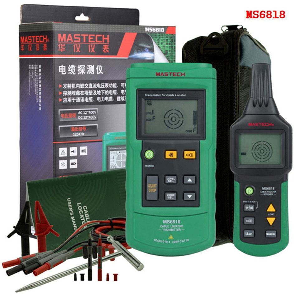MASTECH MS6818 Advanced Cable Tracker Pipe Locator Detector Network ...