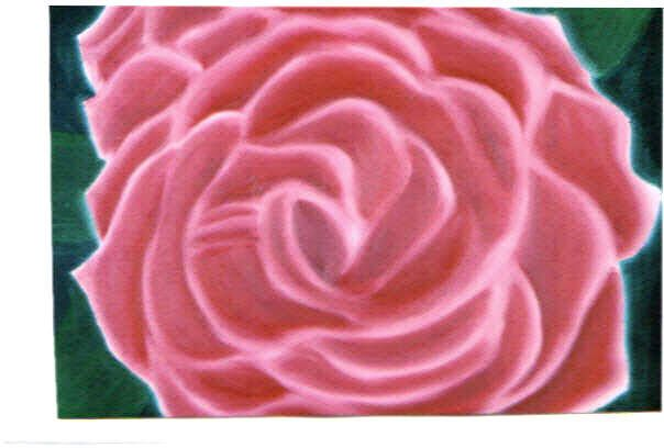 """This is a simple pink rose and so I named it """"Single Rose"""".  The size is 20"""" x 16"""" and is framed.  I'm asking $65.00 for it."""