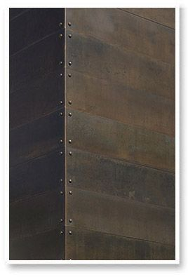 Wood planking is so yesterday. The metal Plank Paneling speaks the language of wood, but without all of the splinters!