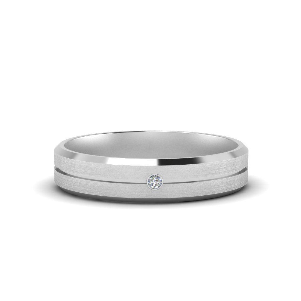 Mens Single Stone Engagement Ring In 14k White Gold Single Stone Engagement Rings Stone Engagement Rings Unique Engagement Rings Black