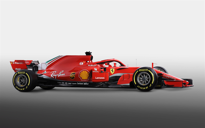 Download Wallpapers Ferrari Sf71h 2018 F1 Side View New Ferrari