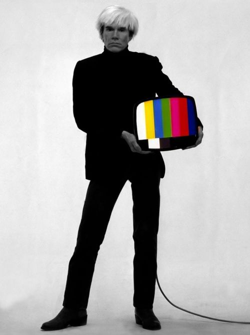 Andy Warhol + TV. That's me.