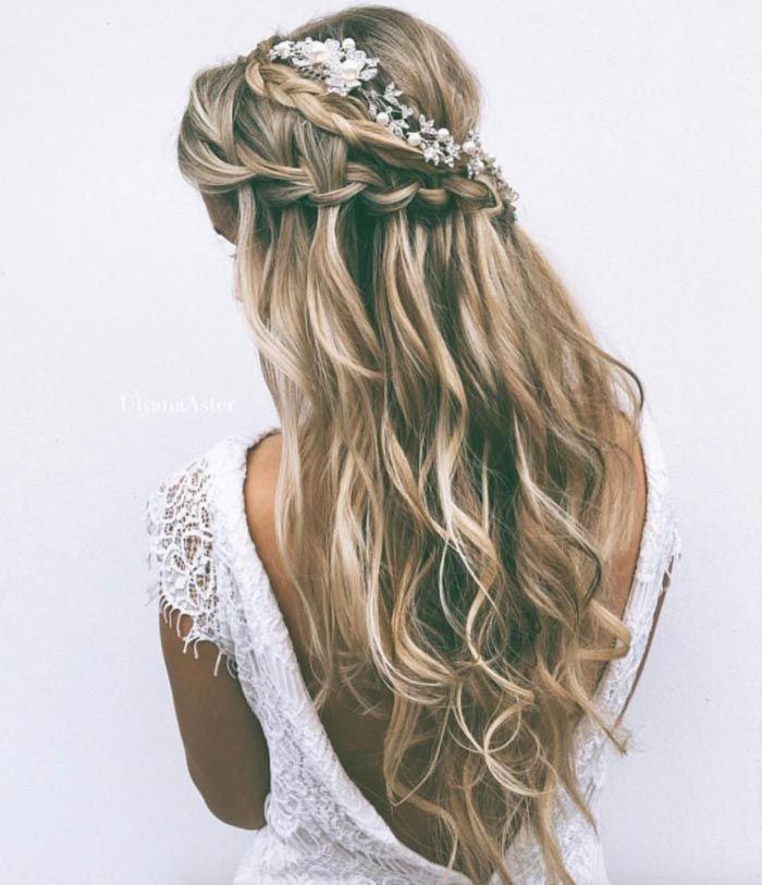 Beautiful Bridal Mermaid Hair Ideas Modern Wedding Long Hair Wedding Styles Hair Styles Boho Wedding Hair