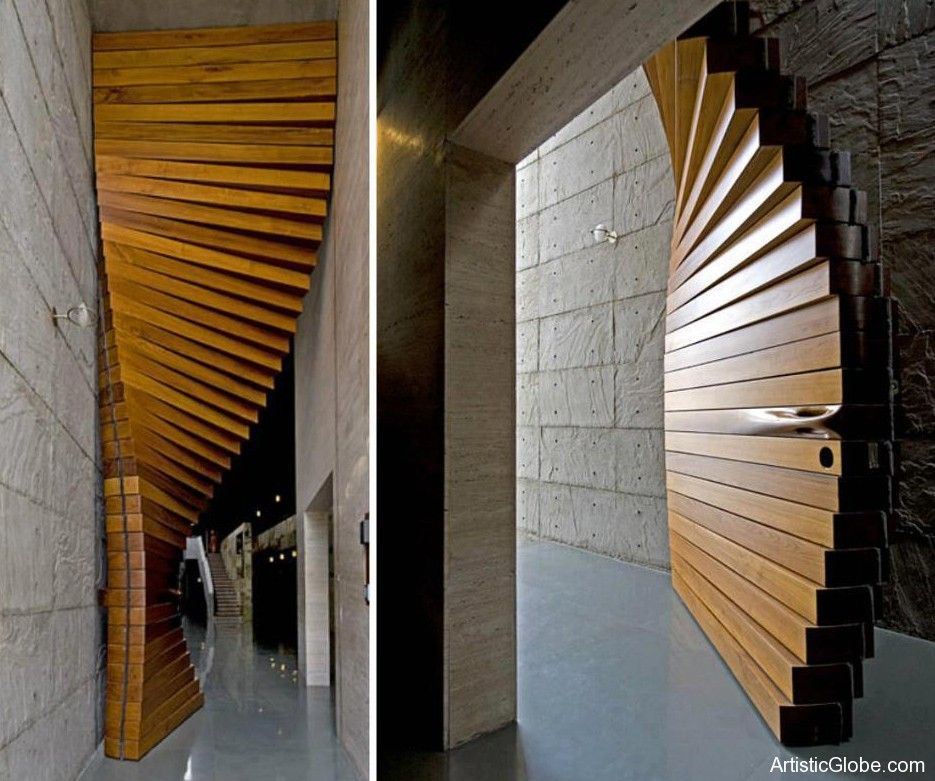 very special door Designed by the architectural firm Matharoo Associates the Curtain Door is most definitely a door like no other Iu0027ve seen & Creative Door - Artistic Globe | Cool stuff home | Pinterest | Doors ...