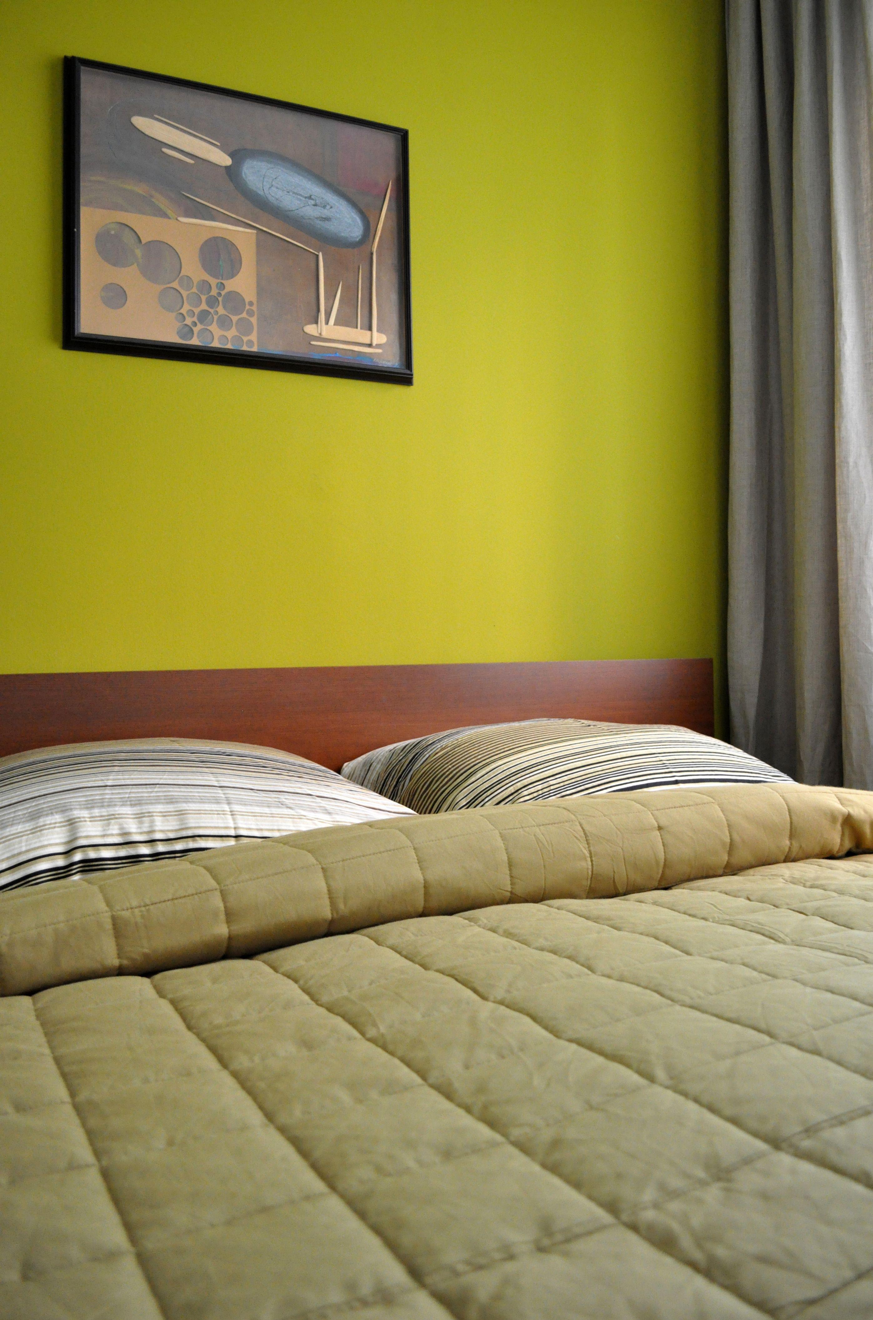 Schlafzimmer, Bedroom, Grün, FERIENWOHNUNG BERLIN MOABIT