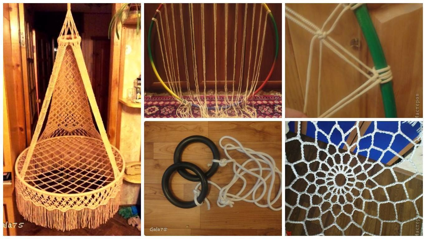 How to make suspended chair hammock in macrame technique macrame
