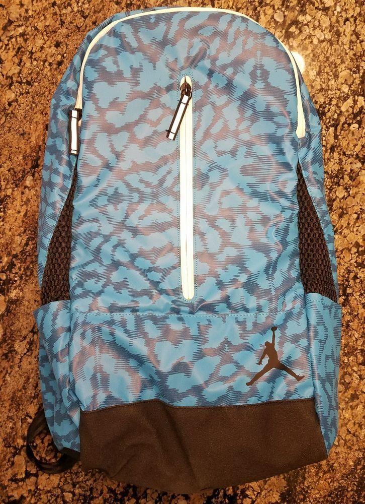 f2209464c8c NIKE JORDAN BLUE LAGOON BACKPACK JUMPMAN SCHOOL LAPTOP BOOK BAG 3M 9A1776  RARE #Nike #Backpack