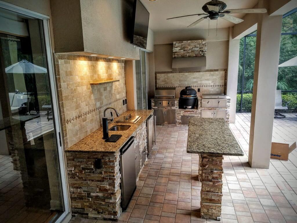 35 Outdoor Kitchen Ideas Create A Perfect Ambience Outdoor Kitchen Design Backyard Kitchen Outdoor Kitchen Cabinets
