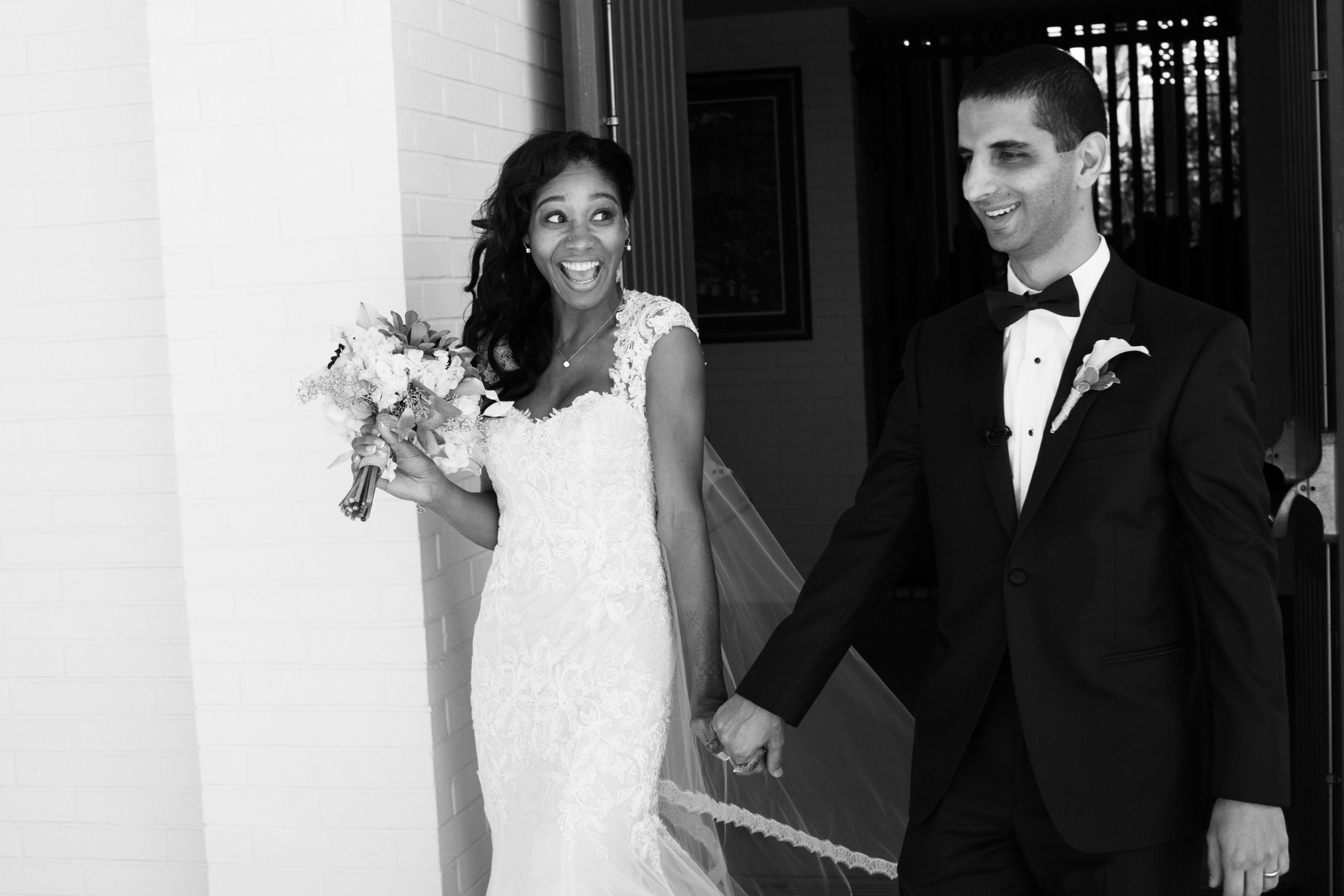 The excited newlyweds! | Anika London Photography