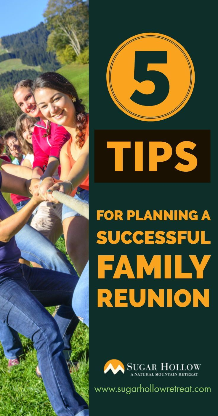 5 Tips For Planning A Successful Family Reunion How to