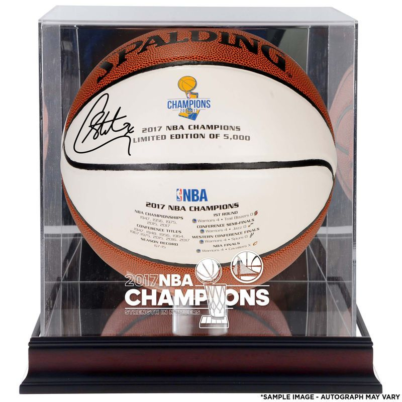 7cb122c6018 Stephen Curry Golden State Warriors Fanatics Authentic Autographed 2017 NBA  Finals Champions White Panel Basketball with a NBA Finals Champs Mahogany  Logo ...