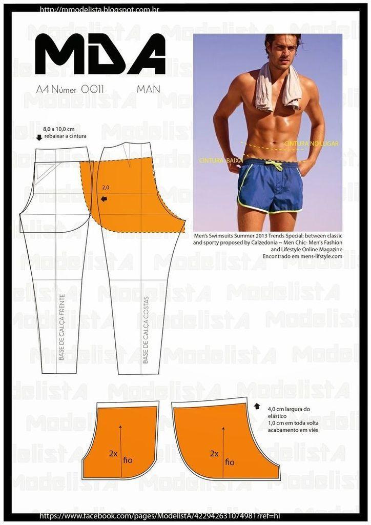 Modelos do Vestuário Masculino | Patrones | Pinterest | Molde ...