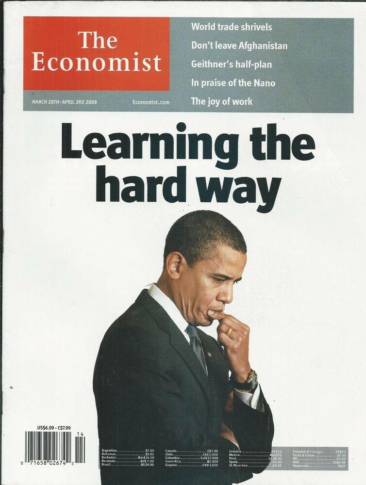 The Economist Magazine Barack Obama World Trade Afghanistan Tim