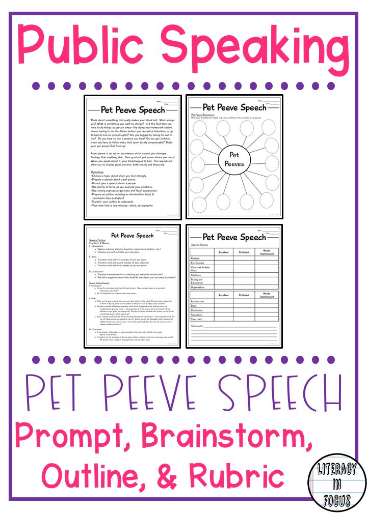 how to write a pet peeve speech