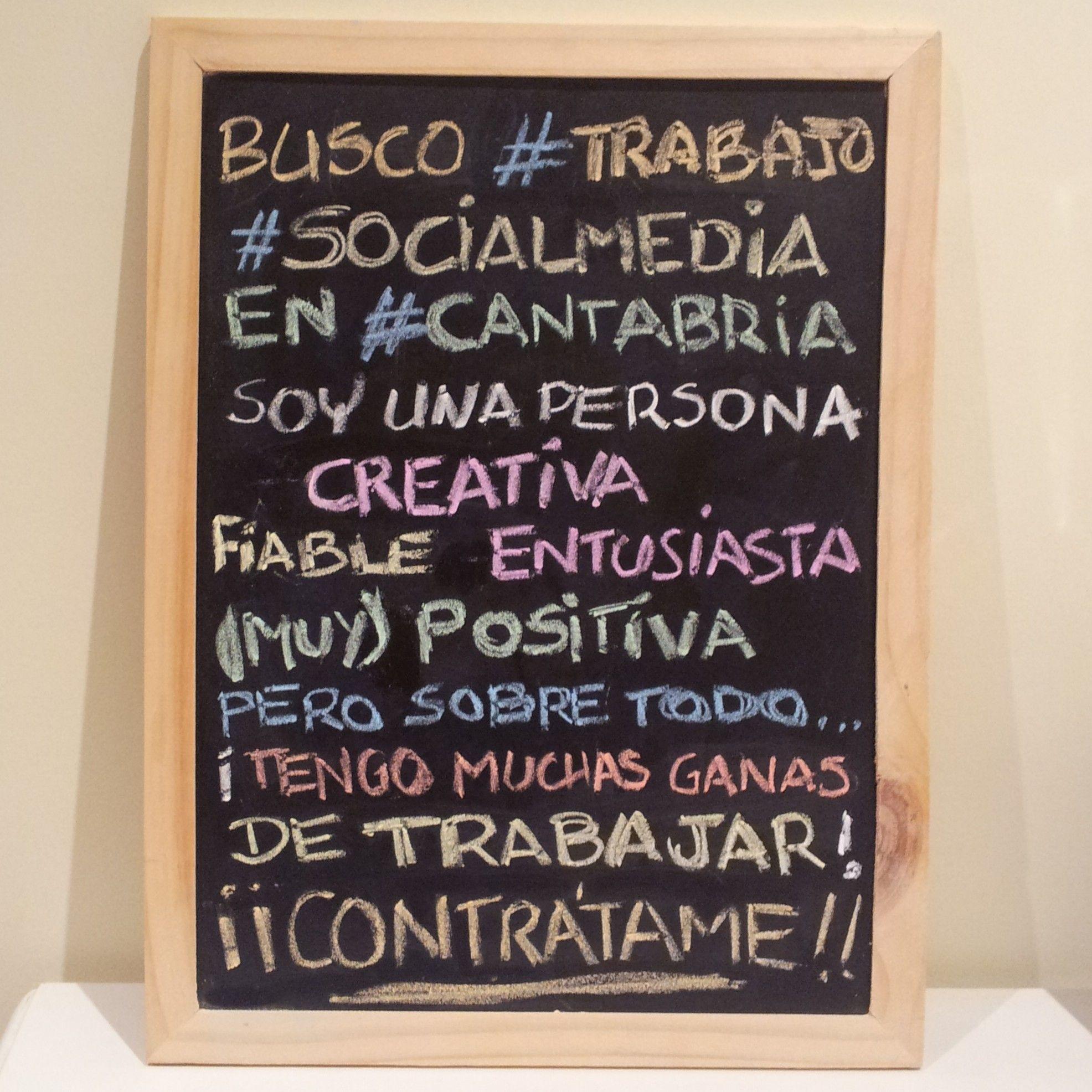 """""""Si puedes soñarlo, puedes hacerlo"""". Primer #CV-pizarra en Pinterest. ¡Contrátame! #trabajo #Cantabria #socialmedia"""