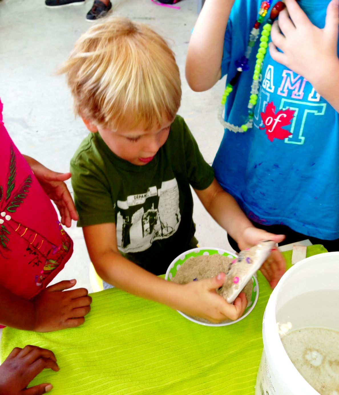 Sand and plaster mold making!