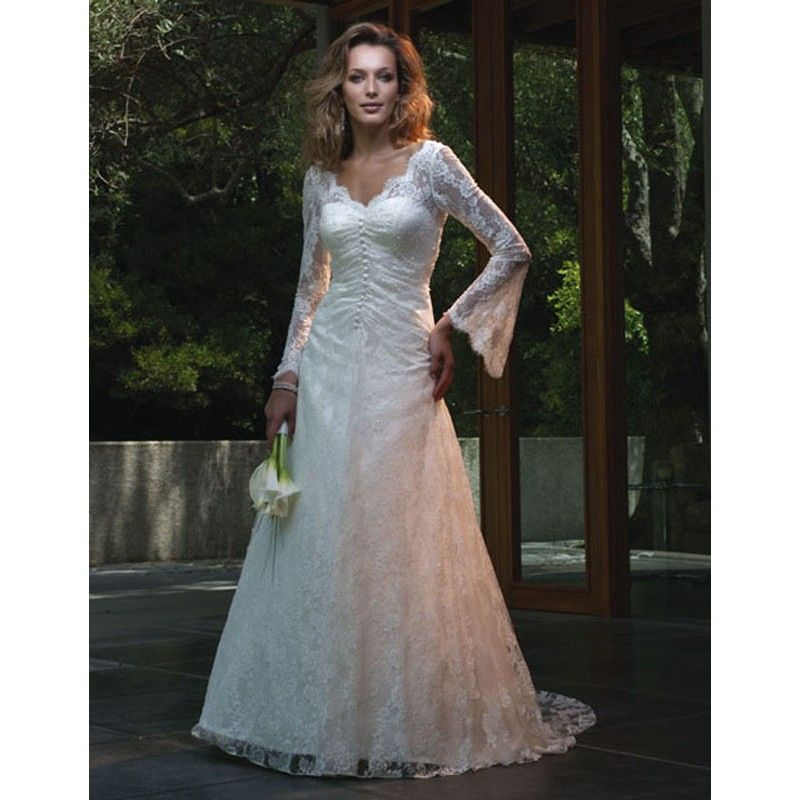 Wedding Dresses With Long Flutter Sleeves