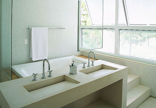 Banheiro c hidro  Pia moderna  banheiro  Pinterest  Baralhos, Cuba e Ems -> Pia Para Banheiro Moderno