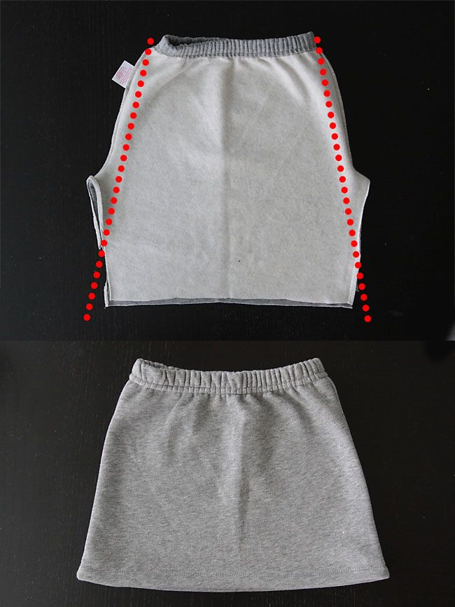 How to make a sweatpant skirt {goodbye old sweats,